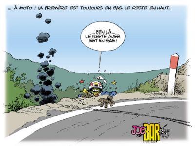 Guillotinas en la carretera